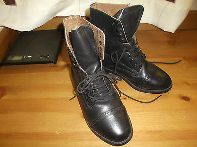 Pair Of Leather Lace Up Jodphur Boots Size 3 Fab Cond