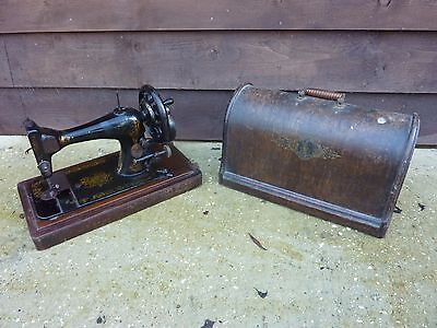 Vintage Singer VS3 Sewing Machine 1892 Bentwood Case For Repair Collectable