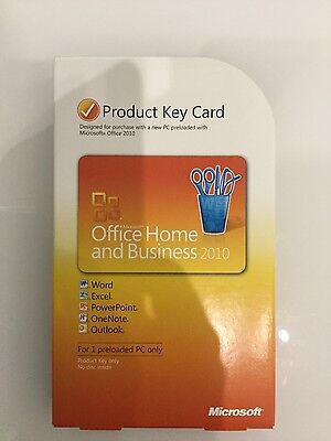 Microsoft Office 2010 Home and Business Product Key Card, Full Retail - T5D-0029