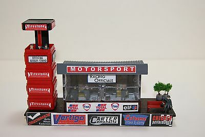 Ho Scale Slot Car Scenery,RACING OFFICIALS BUILDING with SPOTTING TOWER,2 LIGHTS