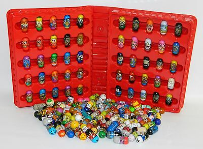 Lot of 133 Mighty Beanz & Red Storage Case Moose Toys