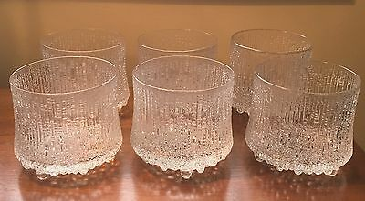 Iittala Ultima Thule Finland 3 1/2  Inches 3 Toed Double Old Fashion Up to 6