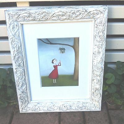 Antique Vintage Style Framed Painting