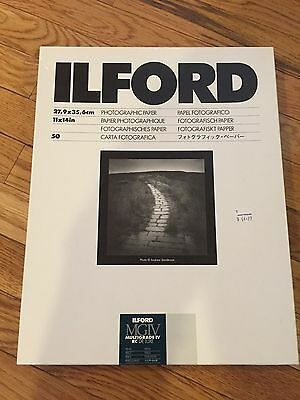 ILFORD MULTIGRADE IV RC DeLuxe resin coated pearl 50 count 11x14