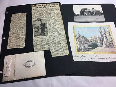Scrapbook Pages Old Photographs And Newspaper Clips C 1950s Lot 8