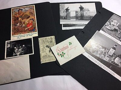 Scrapbook Pages Old Photographs And Newspaper Clips C 1950s Lot 9