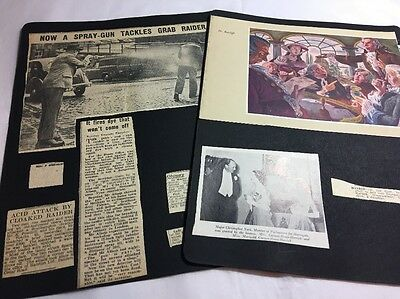 Scrapbook Pages Old Photographs And Newspaper Clips C 1950s Lot 4