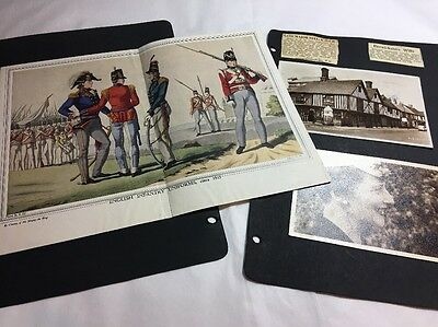 Scrapbook Pages Old Photographs And Newspaper Clips C 1950s Lot 10
