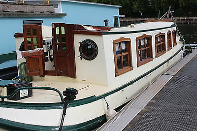 Houseboat with residential mooring Iron Tjalk live aboard