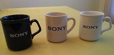 Sony Electronics Coffee Mugs - Lot of 3 - EXCELLENT CONDITION - FREE SHIPPING