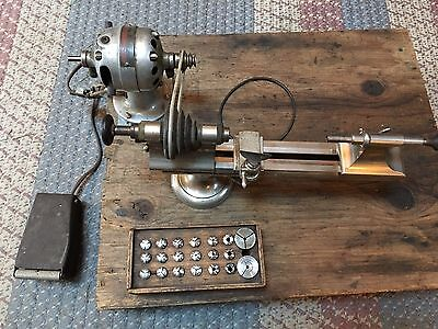 Watchmakers Lathe Precision Tool American with collets