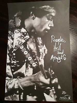JIMI HENDRIX Rare Promo Only Lithograph Poster Numbered Woodstock