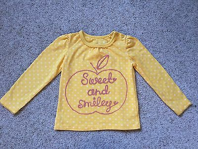 Baby Girls Long Sleeved Top From Tu  Age 9-12 Months  Ex Cond