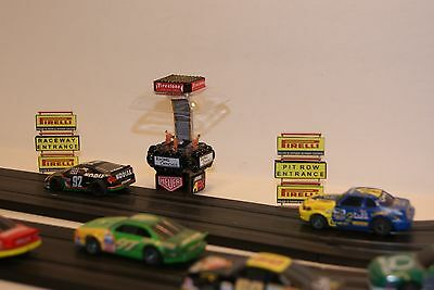 Ho Scale Slot Car Scenery / PIT AREA RACE OFFICIALS STAND with PIT ROW SIGNS