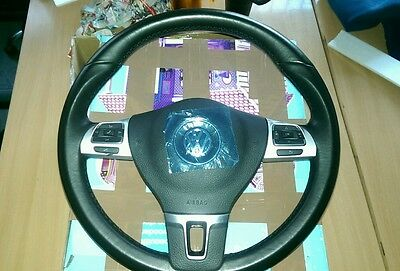 VW multifunctional Leather Steering Wheel + Air Bag Perfect CHEAPEST ON eBay