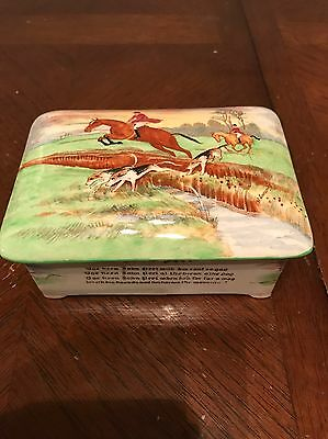 Collectible Fieldings Crown Devon Pottery Musical Equestrian Box