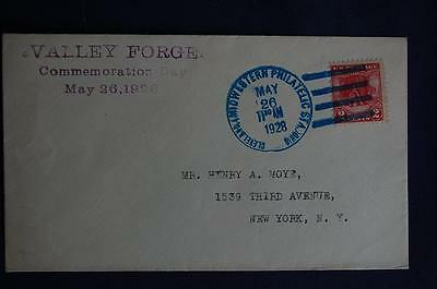 Washington at Valley Forge 2c Stamp FDC Henry Moye Cachet S#645-15a 07226