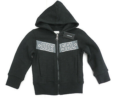 NEW BOYS GIRLS KIDS YOUTH DIESEL black top jacket hoodie 4