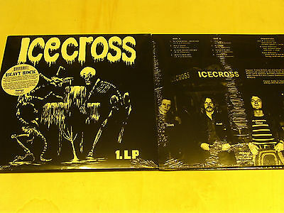 ICECROSS - Icecross - LP reissue of 1972-hard Rock+ Poster Beilage -Rockadrome