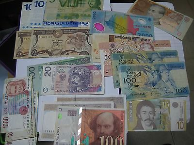 Poland,Cyprus,Netherlands,Portugal,France,Italy Banknotes to Collect / Exchange