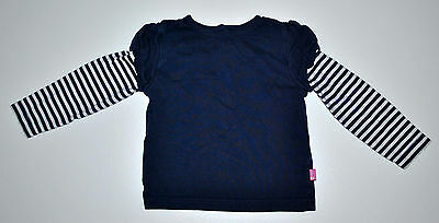 Jojo Maman Bebe Baby Gir Navy Top Long Sleeve  Age 18-24 Months Cotton