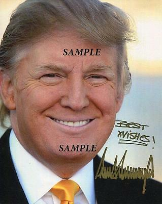 Donald Trump #19 Reprint Autographed Signed Picture 8X10 Photo President Gop Rp