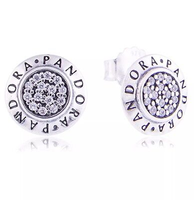 Pandora Sterling Silver Signature Stud Earrings 290559CZ