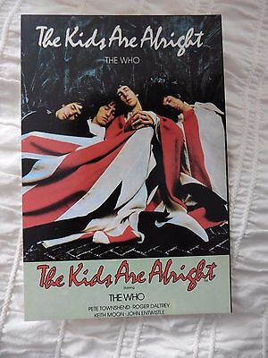 The Who vintage postcard Published: Limited edition unused