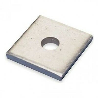 """(BOX OF 100)  3/4"""" Square Washers for Strut Channel, 304 Stainless Steel"""