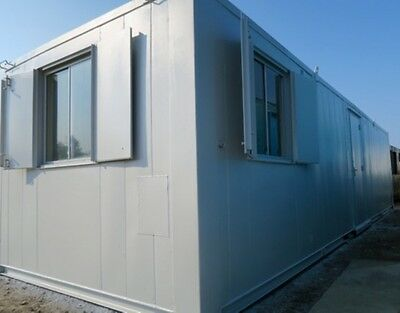 32ft x10ft  Anti Vandal Double Office/Kitchen Portable Site /Canteen Container