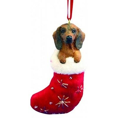 Dachshund Red Santa's Little Pals Dog Christmas Ornament