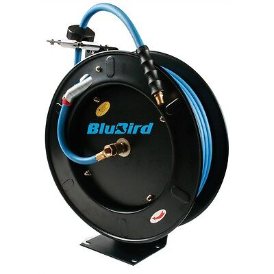 "K Tool KTI71002 Blubird Automatic Retractable Air Hose Reel 1/2"" X 50'"