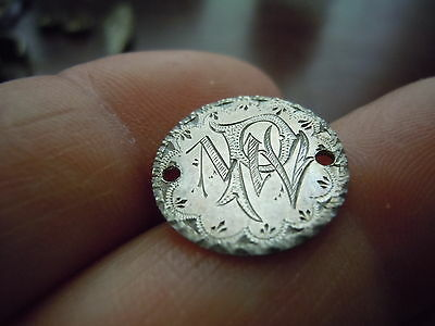 1858 Seated Liberty 1/2 Dime Engraved Love Token Fancy Initials/border Look!