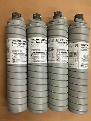 Genuine Ricoh 841332 Black Toner Type 6110D 6075 - Lot of 4 - Same Day Shipping