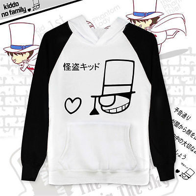 Detective Conan Kaito Kuroba Kid Phantom Thief Cos Hoodie Causual Sweatshirt NEW