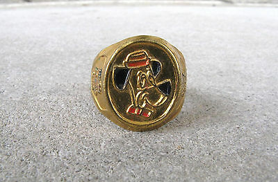 Vintage 1961 Huckleberry Hound Club Painted Brass Character Toy Ring - RARE!