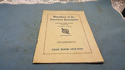 Daughters of the American Revolution Yearbook 1929-1930 Sycamore, ILL