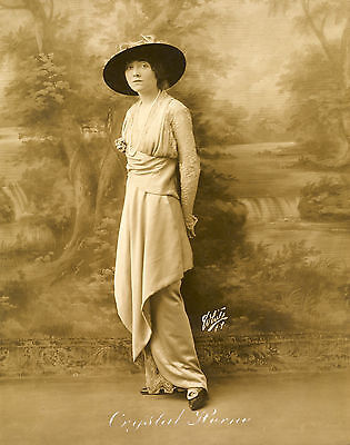 Crystal Herne Early 1900's Actress Model Vintage White Studio Photograph