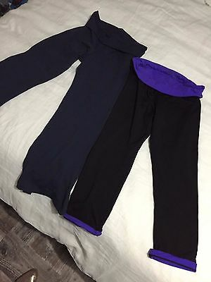 2 PAIRS -  LORNA JANE 3/4 Length Tights Pants Size XS/8   NAVY & BLACK