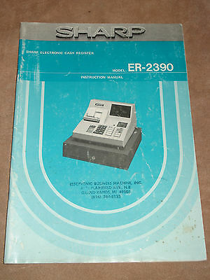 sharp er 2386s electronic cash register instruction manual 14 99 rh picclick com sharp er-a320 cash register instruction manual sharp cash register xe-a102 instruction manual
