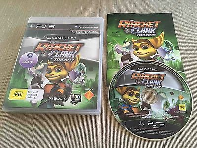 The Ratchet & Clank Trilogy (Sony PlayStation 3, 2012) AUS PAL Complete