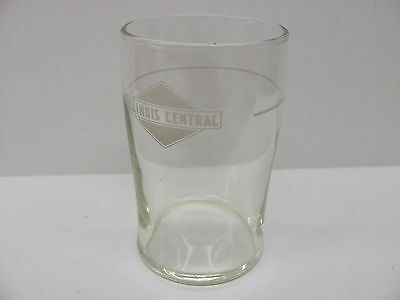 Vintage Libbey ICRR Illinois Central Railroad Water Drinking Glass