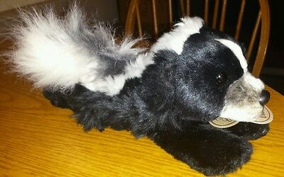 "NWT Russ Yokimo Classics Plush Skunk Stuffed Animal 12"" Long!"