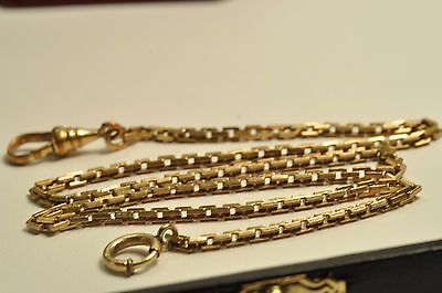 Antique gold filled pocket watch chain /fob14 inch