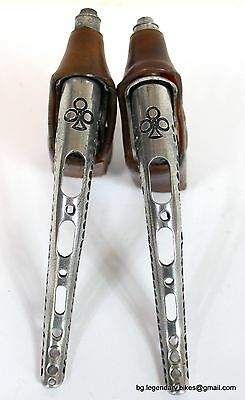 VINTAGE universal Mod.61 BRAKE DRILLED LEVERS eroica Made Italy engraved colnago