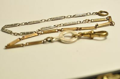Antique gold filled pocket watch chain /fob 14inch end to end
