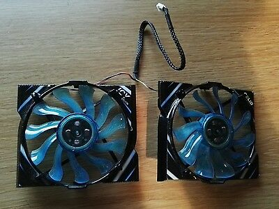 Replacement Fans for Gelid Icy Vision R2 Rev.2 Rev 2 Graphics Card VGA Cooler
