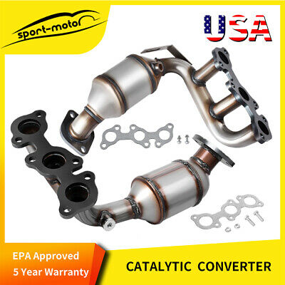 Exhaust Manifold w/ Catalytic Converter for 01-05 Honda Civic 673-608 674-608