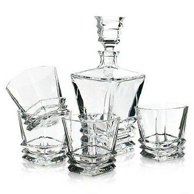 NEW Royal Doulton Prism Decanter & Tumbler 5 Piece Set. Free Delivery!