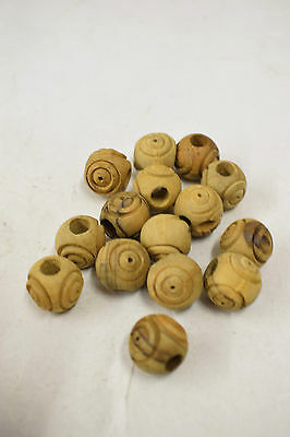 Beads 15 Olive Wood Carved Oval Natural Healing Wood Prayer Beads